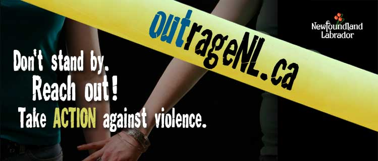 Outragel.ca - Don't Stand By. Reach Out! Take Action Against Violence.
